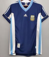 1998 Argentina Away Retro Soccer Jersey