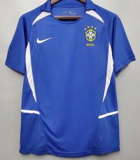 2002 Brazil Away Retro Soccer Jersey
