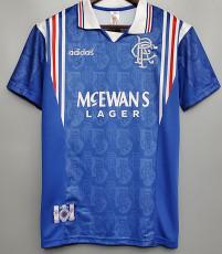 1996-1997 Rangers Home Retro Soccer Jersey