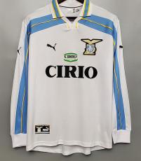 2000-2001 Lazio Home Long Sleeve Retro Soccer Jersey