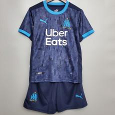 20-21 Marseille Away Kids Soccer Jersey