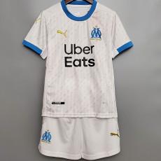 20-21 Marseille Home Kids Soccer Jersey