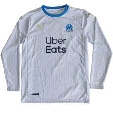 20-21 Marseille Home Long Sleeve Fans Soccer Jersey