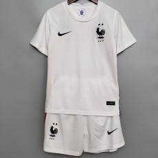 2020 France Away Kids Soccer Jersey