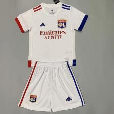 20-21 Lyon Home Kids Soccer Jersey