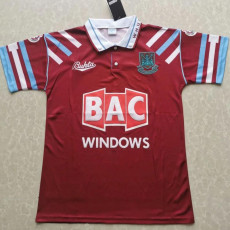 1991-1992 West Ham Home Retro Soccer Jersey