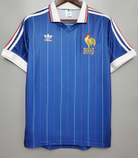 1982 France Home Retro Soccer Jersey