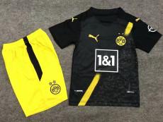 20-21 Dortmund Away Kids Soccer Jersey
