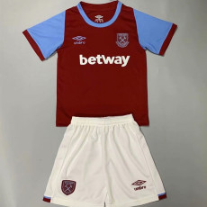 20-21 West Ham Home Kids Soccer Jersey