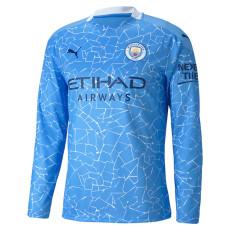20-21 Man City Home Long Sleeve Soccer Jersey