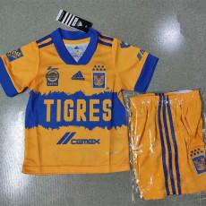 20-21 Tigres UANL Home Kids Soccer Jersey