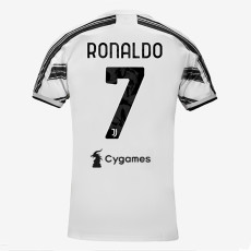 RONALDO #7 JUV 1:1 Home Fans Soccer Jersey 2020/21 带背下广告