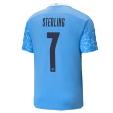 STERLING #7 Man City 1:1 Home Fans Soccer Jersey 2020/21 UCL Font (欧冠字体)