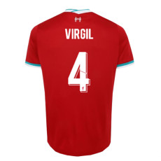 VIRGIL #4 LIV 1:1 Home Fans Soccer Jersey 2020/21 UCL Font (欧冠字体)