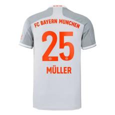 MULLER #25 Bayern Away White Fans Soccer Jersey 2020/21