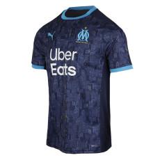 20-21 Marseille 1:1 Away Blue Fans Soccer Jersey