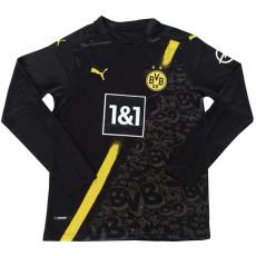 20-21 Dortmund Away Black Long Sleeve Soccer Jersey