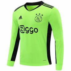 20-21 Ajax Fluorescent Green Goalkeeper Long sleeve Soccer Jersey