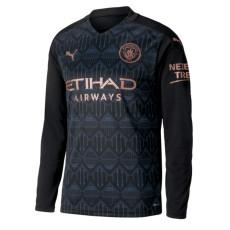 20-21 Man City Away Long Sleeve Soccer Jersey