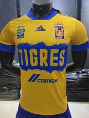 20-21 Tigres UANL Home Player Version Soccer Jersey