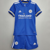 20-21 Leicester City Home Kids Soccer Jersey