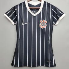 2020 Corinthians Away Black Women Soccer Jersey
