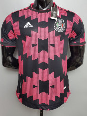 20-21 Mexico Home Black Powder  Player version Soccer Jersey