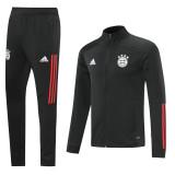 20-21 Bayern Black Jacket Tracksuit