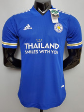 20-21 Leicester City Home Player Version Soccer Jersey