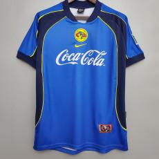 2001-2002 Club America  Away Blue Retro Soccer Jersey