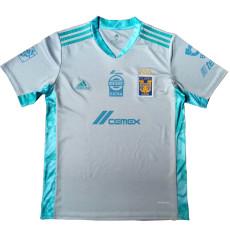 20-21 Tigres UANL White Gray Goalkeeper Soccer Jersey