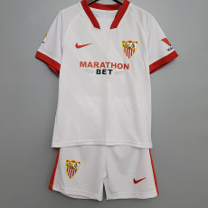 20-21 Sevilla Home Kids Soccer Jersey