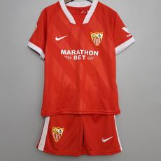 20-21 Sevilla Away Kids Soccer Jersey