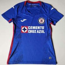 20-21 Cruz Azul Home Blue Women Soccer Jersey