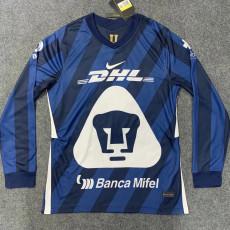 2020 Pumas UNAM Blue Long Sleeve Soccer Jersey
