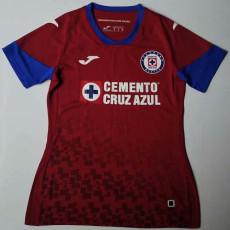 20-21 Cruz Azul Away Red Women Soccer Jersey