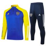 20-21 Boca Juniors Blue Yellow Half Pull Sweater Tracksuit