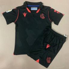 20-21 Real Sociedad Away Kids Soccer Jersey