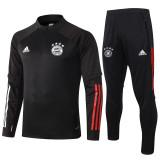 20-21 Bayern Black Half Pull Sweater Tracksuit