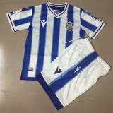 20-21 Real Sociedad Home Kids Soccer Jersey