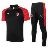 20-21 ACM Red Black Polo Tracksuit