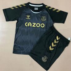 20-21 EVE Black Goalkeeper Kids Soccer Jersey