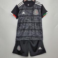 2020 Mexico Black Kids Soccer Jersey