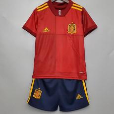 2020 Spain Home Kids Soccer Jersey