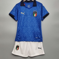 2020 Italy Home Kids Soccer Jersey