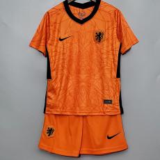 2020 Netherlands Home Kids Soccer Jersey