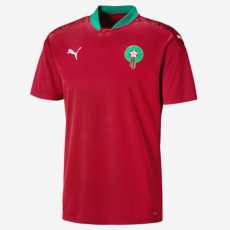 20-21 Morocco Home Red Fans Soccer Jersey