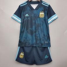 2020 Argentina Away Kids Soccer Jersey