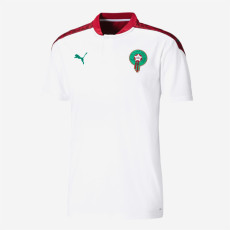 20-21 Morocco Away White  Fans Soccer Jersey