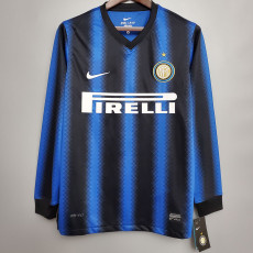 2010-2011 INT Home Long Sleeve Retro Soccer Jersey